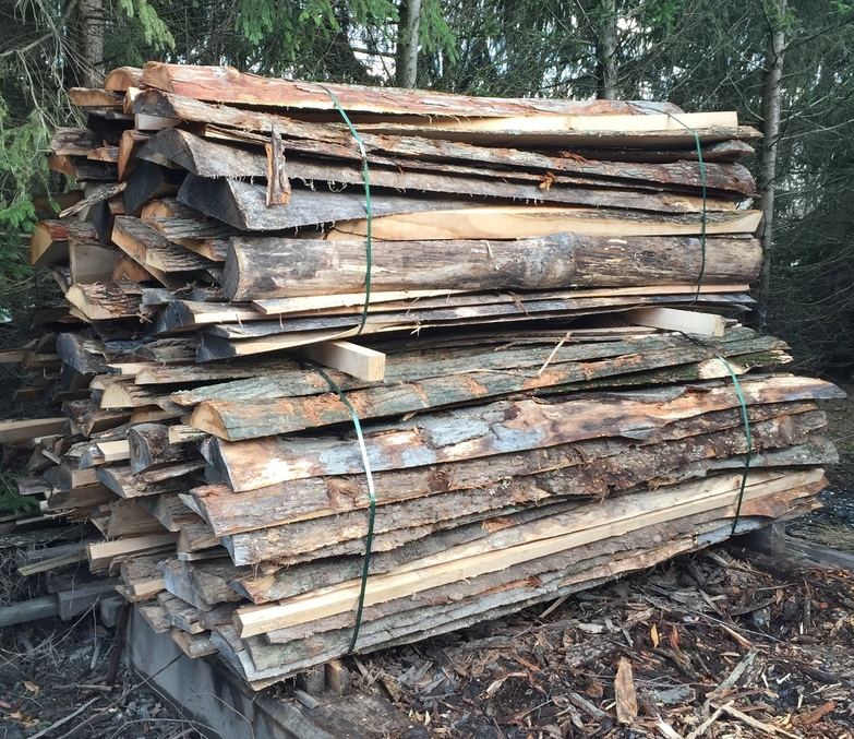 Slab wood mk logging and lumber for Log slab siding